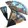 RELIGIOUS PATTERN FOLDING HAND FAN 6 PIECES