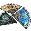 SPANISH FLORAL FOLDING HAND FAN 6 PIECE X BOX