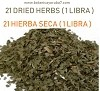 21 HIERBAS SECAS 1 LB   (21 DRIED HERBS 1 LB ) (LEER EN DESCRIPCION)