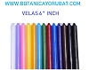 CANDLES,VELAS DE DIFERENTES COLORES 6''