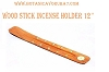 WOOD STICK INCENSE HOLDER 12