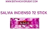 INCIENSO SAGE , SALVIA  box de  72 stick