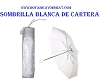 UMBRELLA ,SOMBRILLA BLANCA DE CARTERA