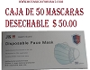 DISPOSABLE FACE MASK  (NASOBUCO) BOX OF 50 MASK
