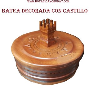 BATEA DE CHANGO DECORADA CON CASTILLO
